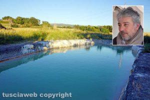 Viterbo – La pozza segreta di Castel d'Asso - Nel riquadro l'avvocato Enrico Valentini