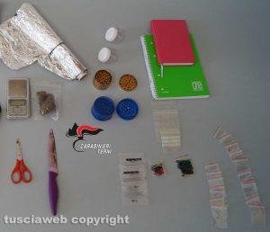 Carabinieri - La droga sequestrata dai carabinieri