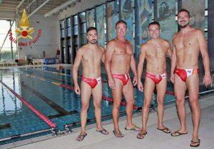 Gli atleti ai campionati nazionali di Nuoto e Salvamento a Ostia