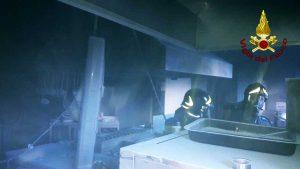 Santa Marinella - Incendio in un ristorante sul lungomare