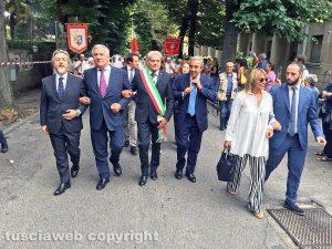 Santa Rosa 2018 - Antonio Tajani e Maurizio Gasparri al raduno con i facchini