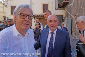 Sutri - il sindaco Vittorio Sgarbi e il prefetto Giovanni Bruno