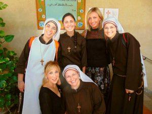 La mostra all'interno del monastero di santa Rosa