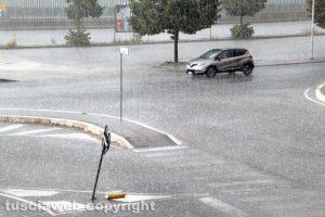 Maltempo - Bomba d'acqua su Viterbo