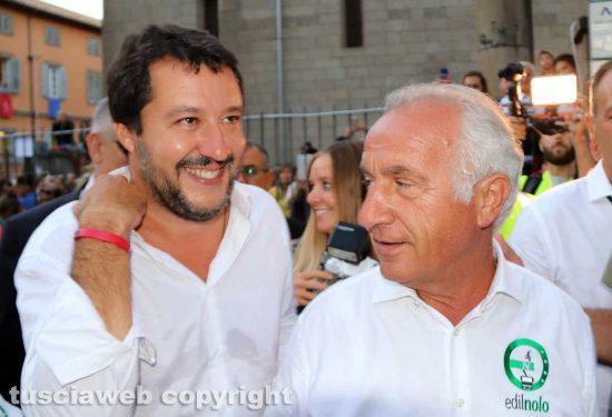 Matteo Salvini e Vincenzo Fiorillo