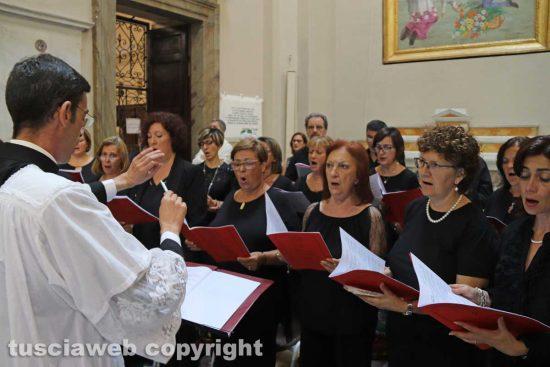 Viterbo - Santa Rosa - La messa del 4 settembre - La corale Ceccarini