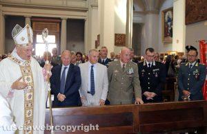 Viterbo - Santa Rosa - La messa del 4 settembre - Il vescovo Fumagalli con le autorità