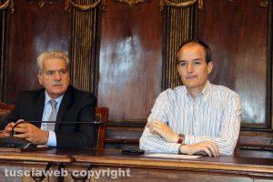 Viterbo - Il sindaco Giovanni Arena e l'assessore Elpidio Micci