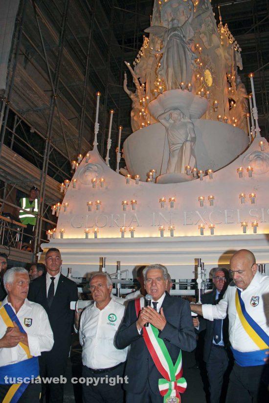 Viterbo - Santa Rosa - Il trasporto di Gloria - Al centro: Il sindaco Giovanni Arena
