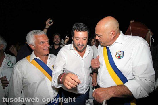 Viterbo - Santa Rosa - Il trasporto di Gloria - Matteo Salvini con Massimo Mecarini e Sandro Rossi