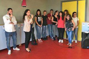 Viterbo - L'assessora Antonella Sberna all'asilo nido comunale Nido a colori