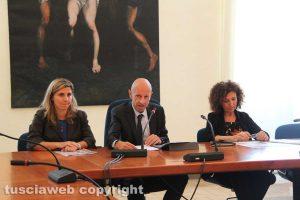 Il rettore Ruggieri con la prorettrice Fausto e la professoressa Delfino