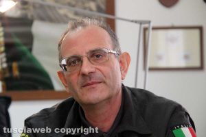 Il comandante provinciale dei vigili del fuoco Emanuele Pianese