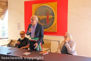 Sutri - L'intitolazione delle vie a Benedetto Croce e Federico Zeri - Roberto D'Agostino, Vittorio Sgarbi e Giulio Giorello