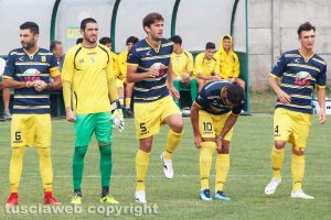 Sport - Calcio - Viterbese - Da sinistra: Sini, Forte, Atanasov, Palermo e Damiani
