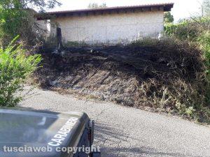 Montefiascone - Gli incendi in via Carpine