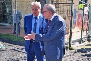 Sport - Calcio - Barco Murialdina - Il presidente Pollastrelli col sindaco Arena
