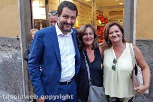 Viterbo - Il ministro Salvini in centro per Santa Rosa