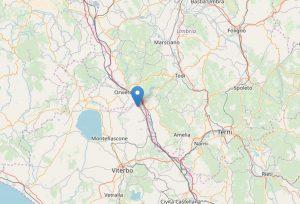 Lieve scossa di terremoto a Castiglione in Teverina