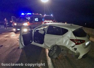 L'incidente sulla Superstrada di ieri sera