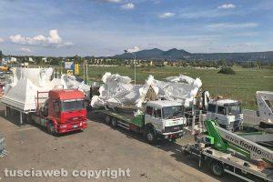 Viterbo - Santa Rosa 2018 - Gloria al capannone sulla Tuscanese