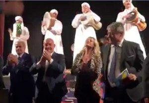 Viterbo - Teatro Caffeina - Bruno, Arena, Perlorca e Fusco sul palco coi Dervisci
