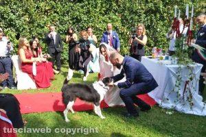 Daphne porta le fedi al matrimonio di Eleonora Cutigni e Diego Proietti