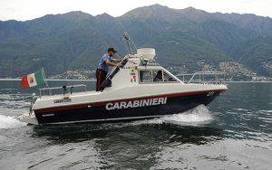 La motovedetta dei carabinieri sul lago di Bolsena