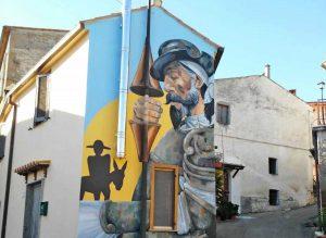 Il murale di Don Chisciotte a Sant'Angelo