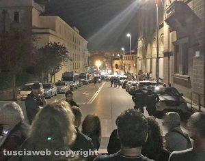 Viterbo - Santa Rosa - Via Rosselli vuota la sera del 3 settembre
