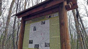 Tabella al monumento naturale di Corviano