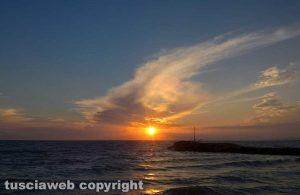 Tramonto sul mare a Montalto di Castro