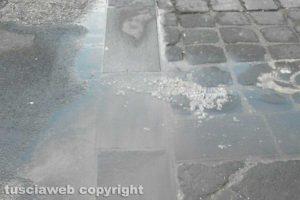 Bolsena - La perdita d'acqua in via Piave