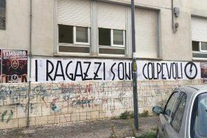 Viterbo - I manifesti e lo striscione del Blocco studentesco