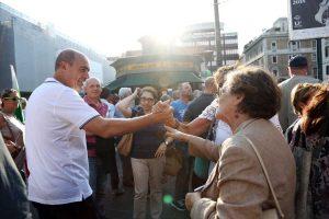 Zingaretti a piazza del Popolo per la manifestazione del Pd