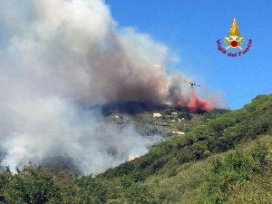 Incendio nel Pisano - L'intervento dei vigili del fuoco