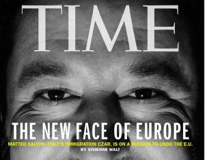 Matteo Salvini sulla copertina di Time