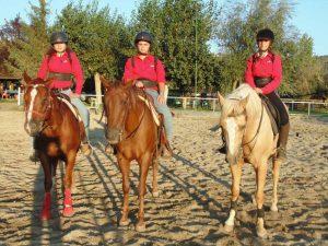 I tre atleti del maneggio La Valle