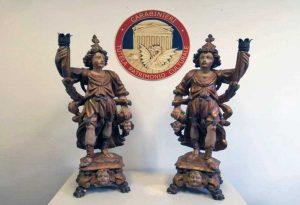Le statue in legno rubate a Vercelli e ritrovate a Vitorchiano