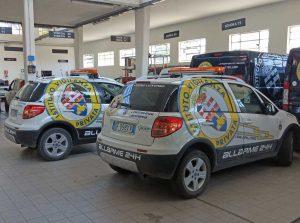 Viterbo - Pattuglie del pronto intervento dell'istituto di vigilanza privata