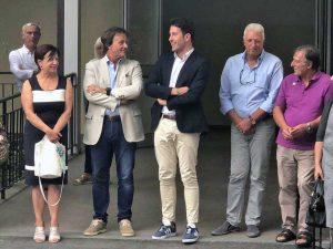 Bagnoregio - Il sindaco Francesco Bigiotti e l'assessore alla pubblica istruzione Luca Profili