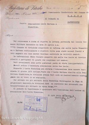 Marta - Il documento originale conservato nell'archivio storico comunale