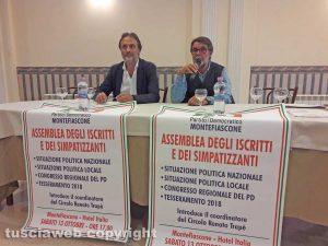Montefiascone - L'assemblea del Pd - Luciano Cimarello e Renato Trapè
