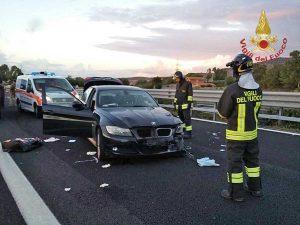 Civitavecchia - L'incidente sull'A12