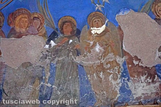 Viterbo - Gli affreschi di Pietro Vanni