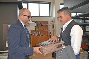 Valentano - La visita di Mauro Rotelli alla DiMar group