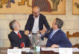 Tarquinia - Da sinistra - Battistoni, Rotelli e Battilocchio
