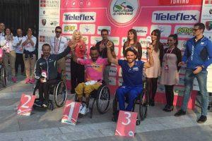 Sport - Le premiazioni del Giro d'Italia handbike