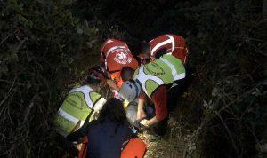 Roma - Le operazioni di salvataggio della protezione civile