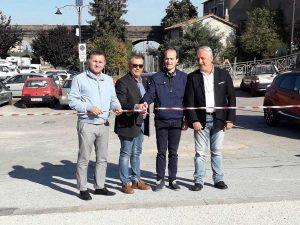 Bagnaia - L'inaugurazione del parcheggio in via Jacopo Barozzi